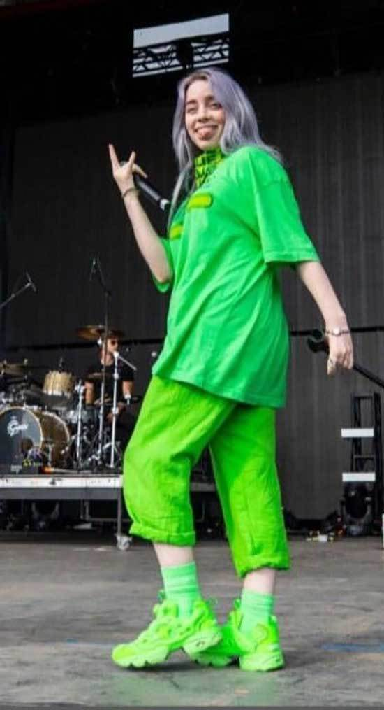Billie Eilish Green Outfits