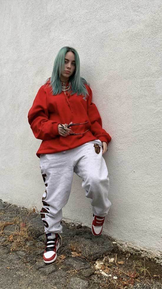 Billie Eilish Sweatpants Outfits