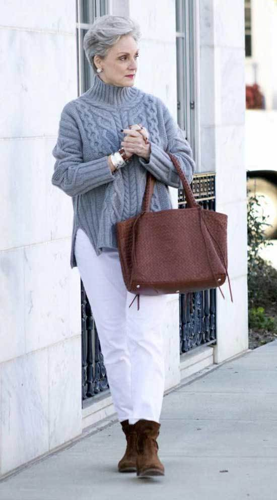 Classic Winter Outfits for Women Over 50