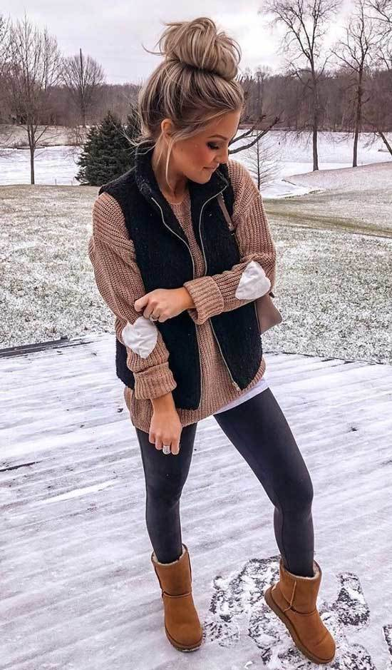 Classy Cute Winter Outfits with Uggs