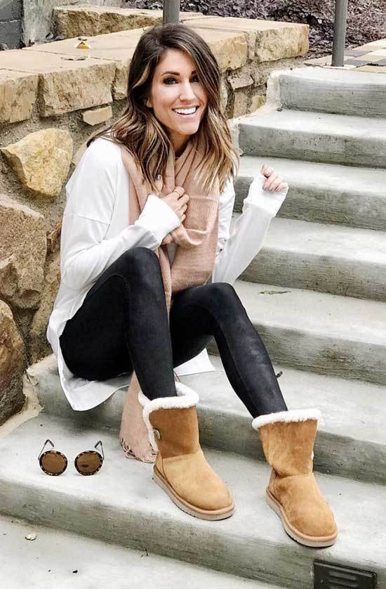 Cozy Cute Winter Outfits with Uggs