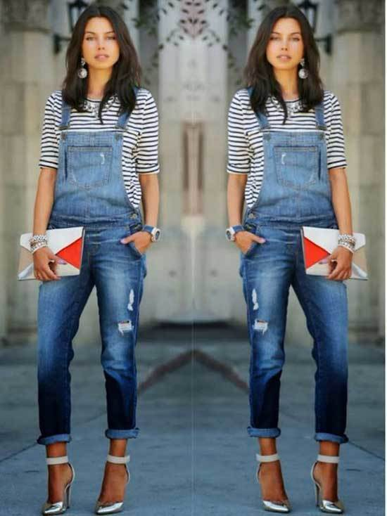 Outfits with Denim Overalls