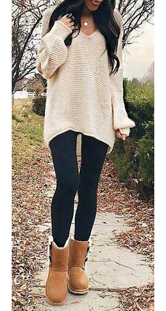Cute Winter Autumn Outfits with Uggs
