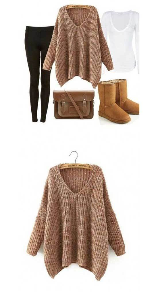 Simple Cute Winter Outfits with Uggs