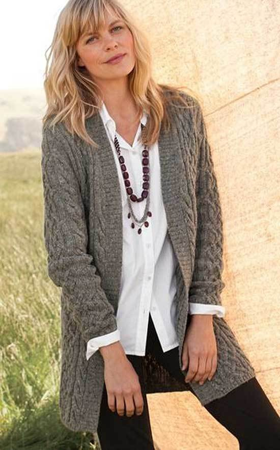 Winter Cardigan Outfits for Women Over 50