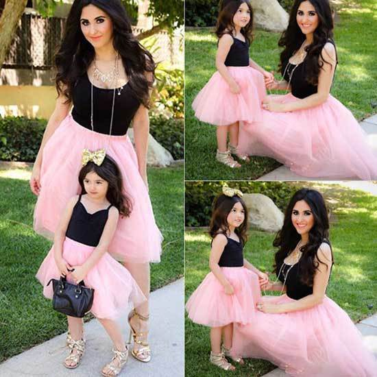 Pink Mini Me Matching Outfits