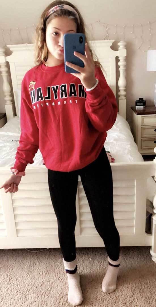 Sweatshirt Outfit Ideas for School