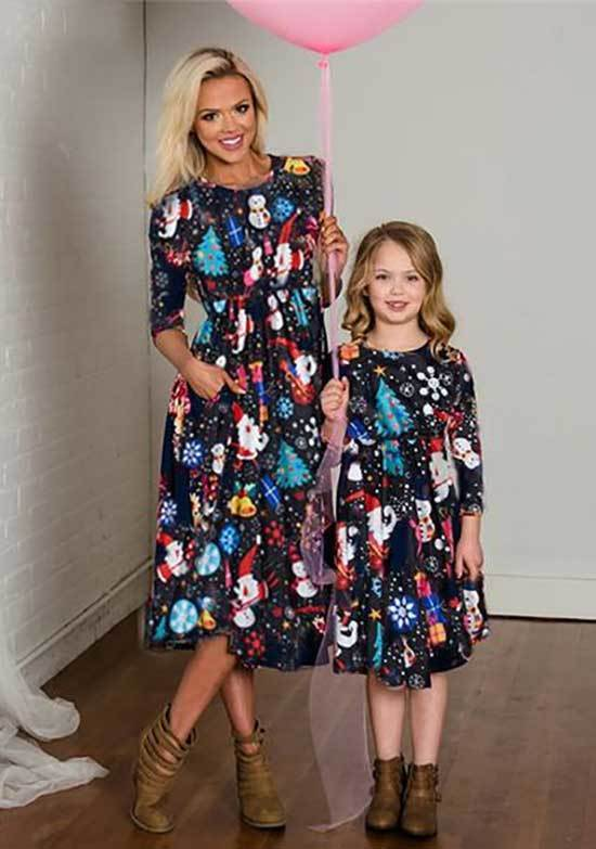 Mini Me Matching Floral Outfits