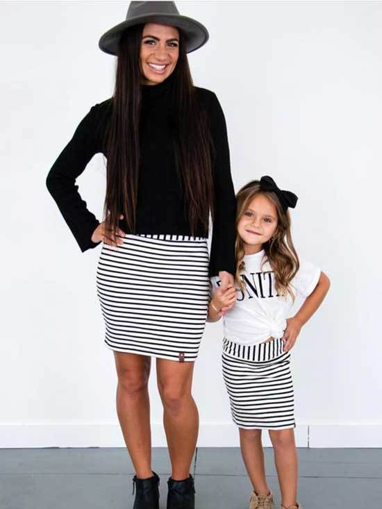 Mini Me Matching Skirt Outfits