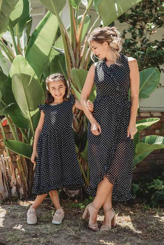 Mini Me Matching Polka Dot Outfits