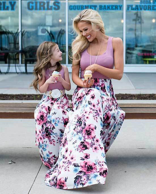 Mini Me Matching Spring Outfits