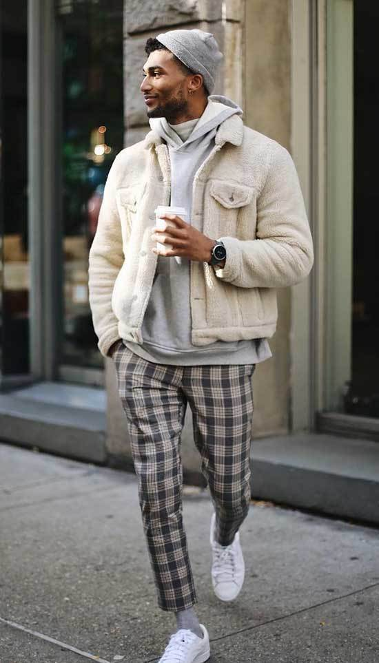 Men Street Style Hoodie Outfits
