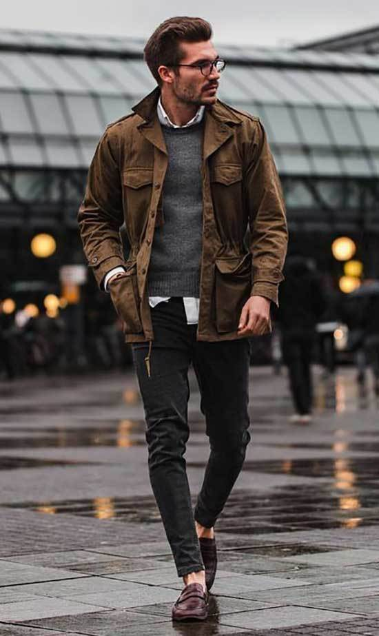 Men Street Style Winter Outfits