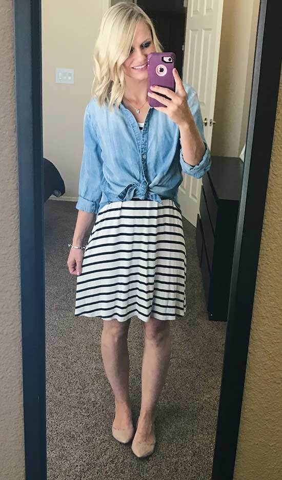 Summer Teacher Skirt Outfit Ideas