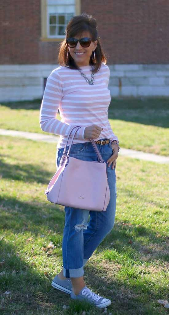 Spring Denim Outfits for Women Over 50
