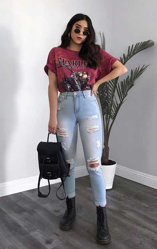 Jeans School Outfit Ideas
