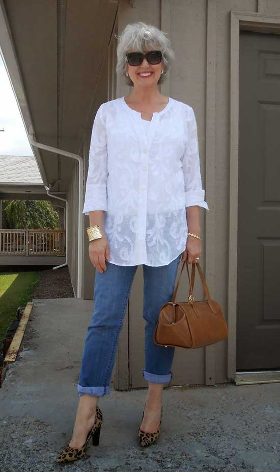 Spring Shirt Outfits for Women Over 50