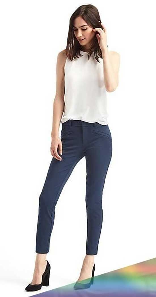 Professional Summer Work Skinny Pants Outfits