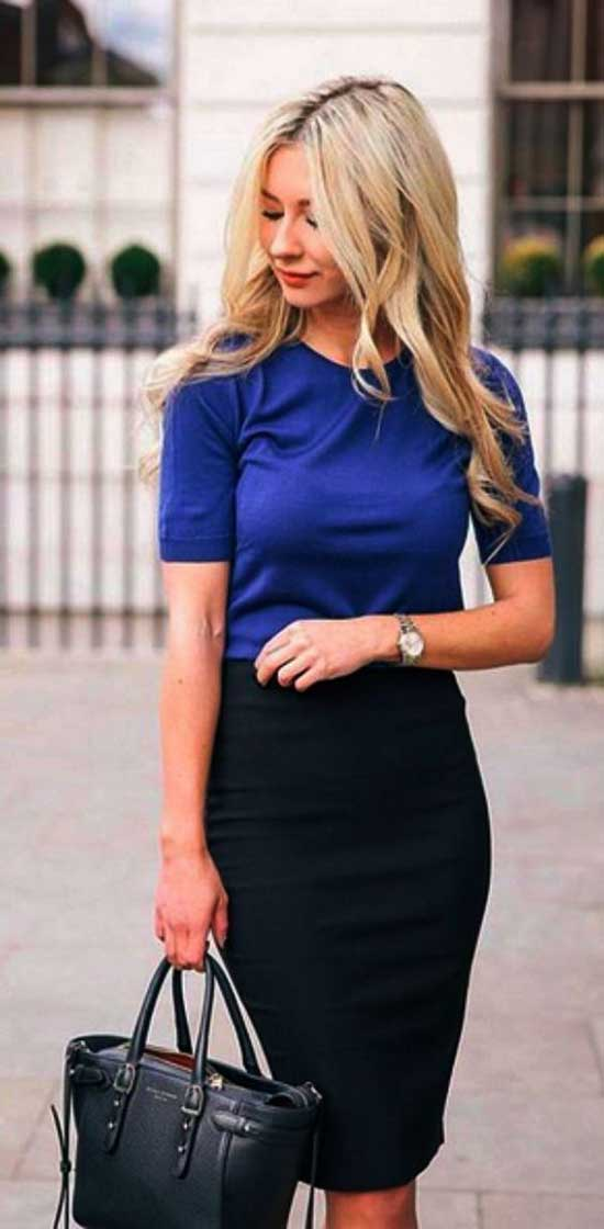 Professional Summer Work Pencil Skirt Outfits