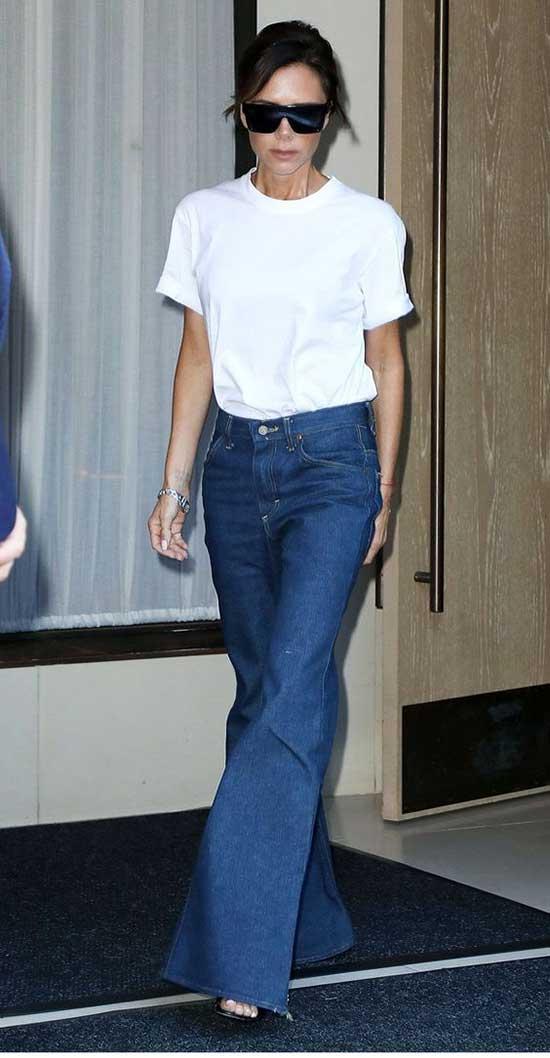 Victoria Beckham Jeans Outfit Ideas