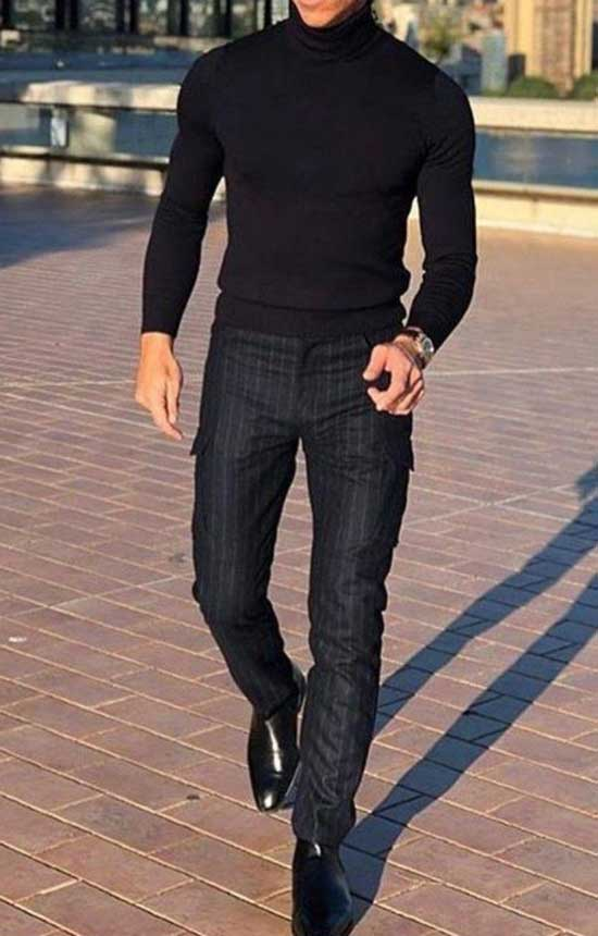 All Black Pants Outfits Mens