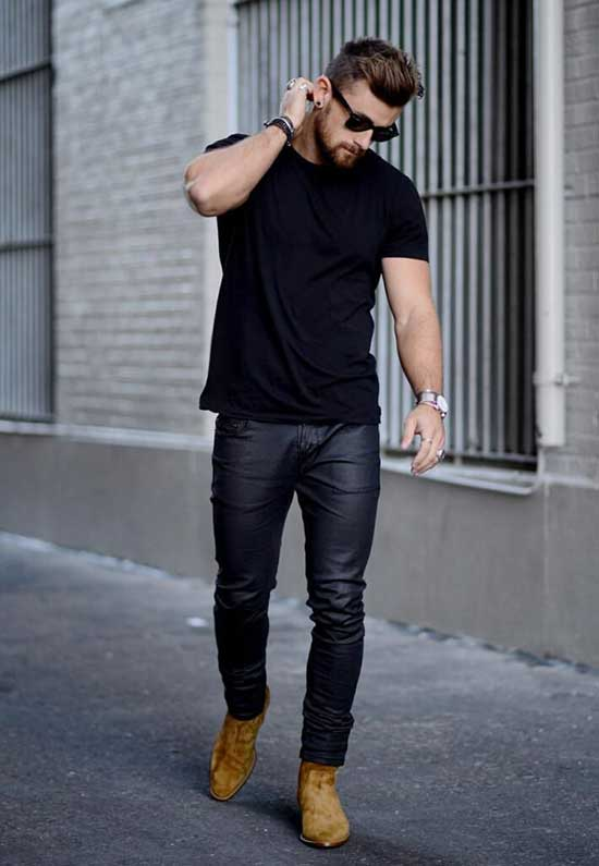 Black Denim Pants Outfits Mens