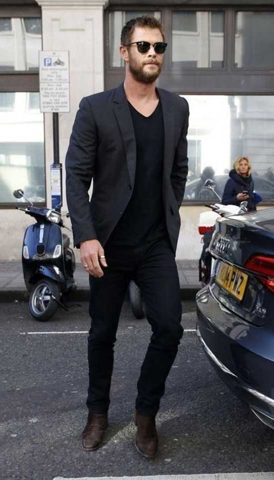 Black Pants Blazer Outfits Mens