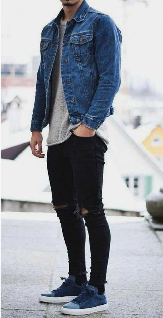 Black Pants Spring Outfits Mens
