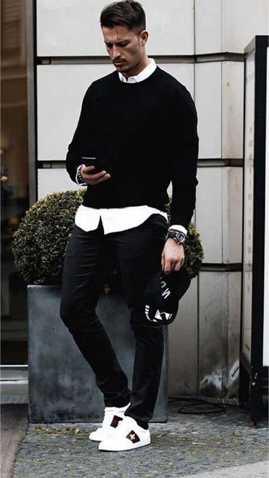 Black Pants Urban Outfits Mens