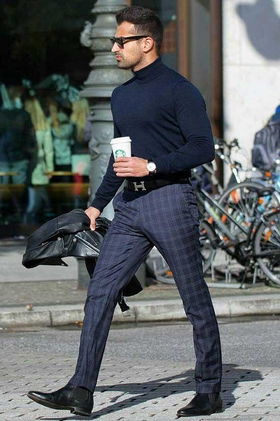 Black Plaid Pants Outfits Mens