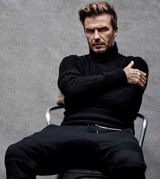 David Beckham Black Pants Outfits Mens