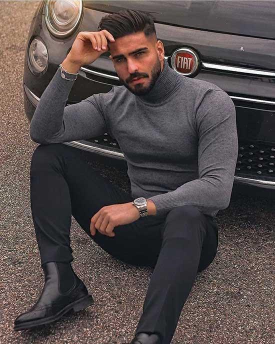 Latest Black Pants Outfits Mens
