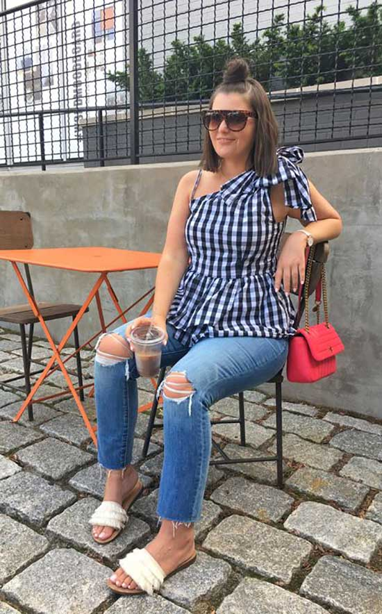 Preppy Summer Outfits for Curvy Women