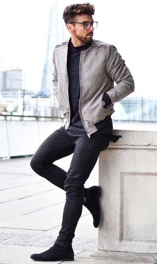 Simple Black Pants Outfits Mens