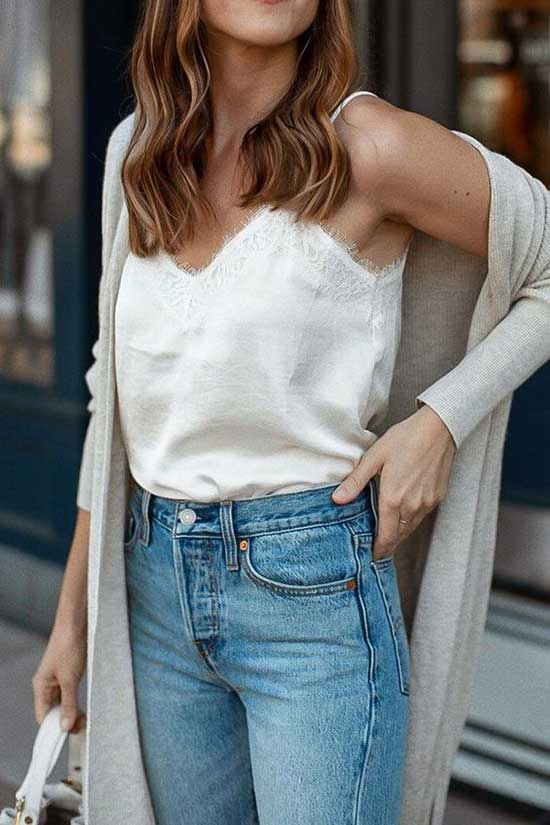 Simple Cardigan Outfits for Ladies