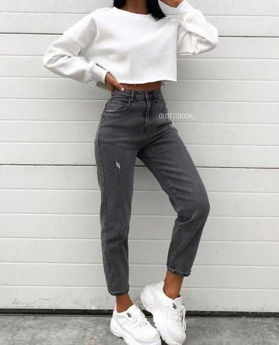 Simple Jeans Outfits for Ladies