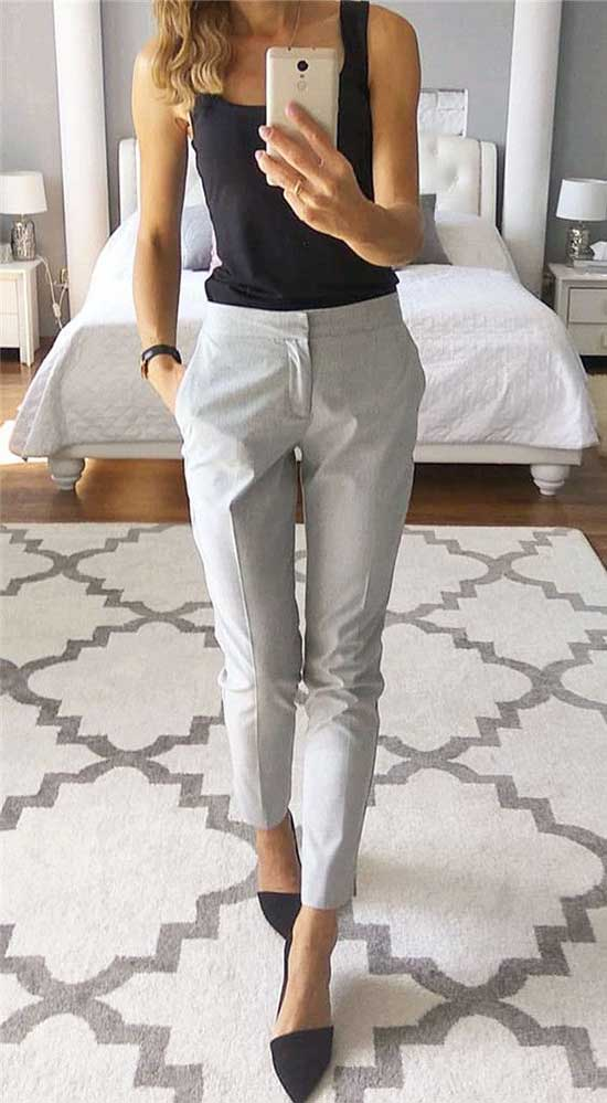 Simple Work Outfits for Ladies