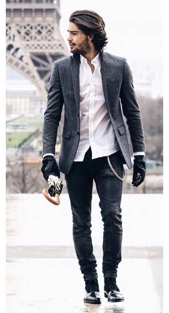 Stylish Black Pants Outfits Mens