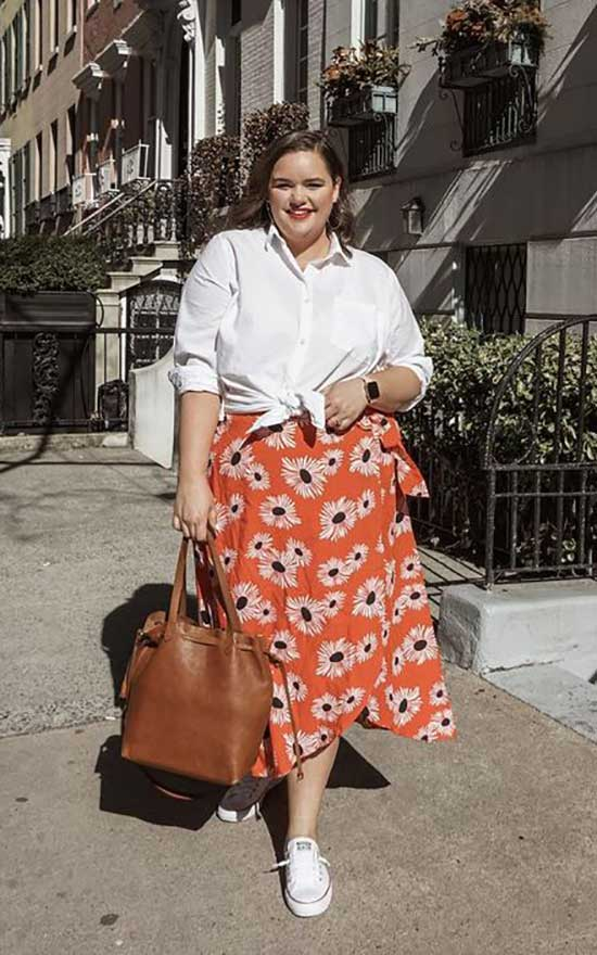 Summer Converse Outfits for Curvy Women