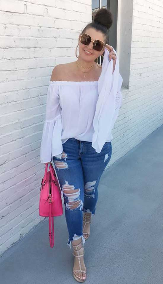 Summer Denim Outfits for Curvy Women