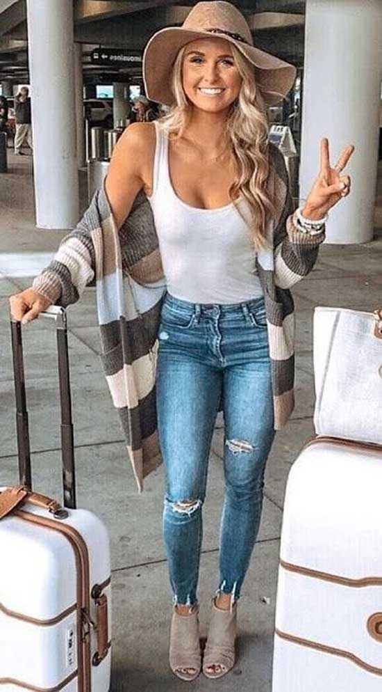 Cute Casual Summer Travel Outfits-10