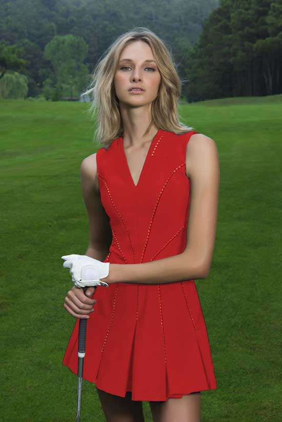 Cute Golf Dress Outfits for Ladies-12