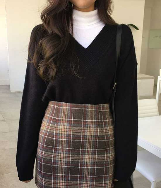 Korean Long Sleeve Outfit Ideas-12