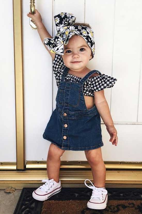 Cute Little Girl Summer Overall Outfits-12