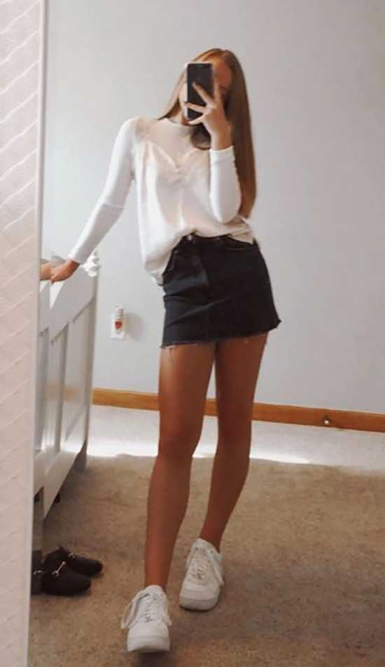 Trendy Summer Outfits for School-12