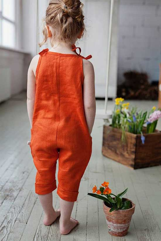 Cute Little Girl Summer Jumpsuit Outfits-13