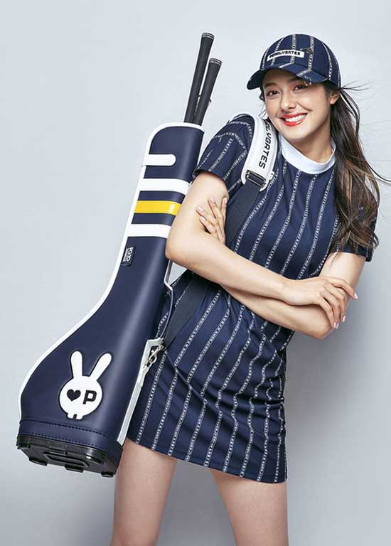 Cute Golf Striped Outfits for Ladies-15