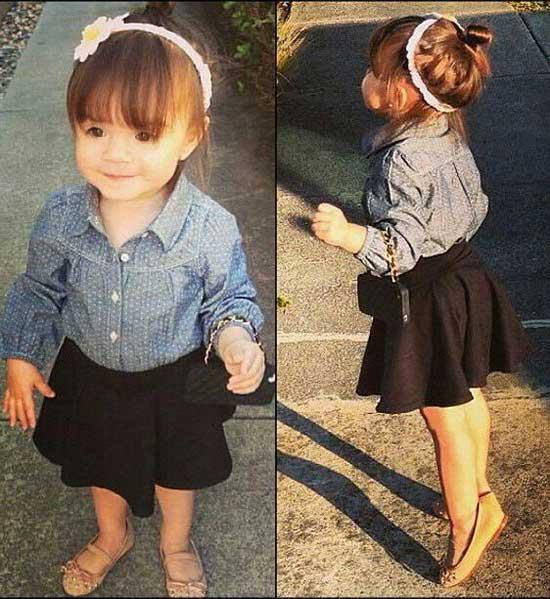 Cute Little Girl Summer Skirt Outfits-17