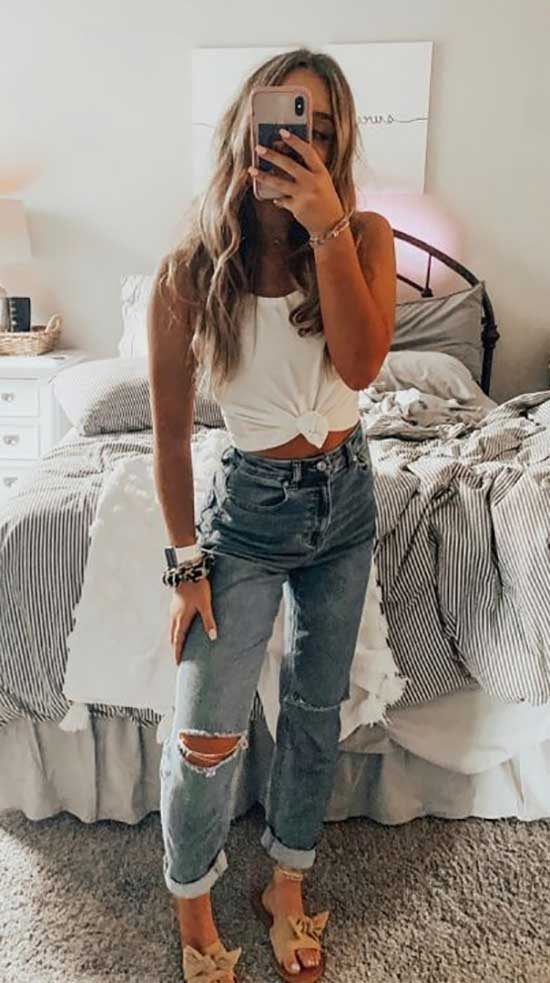 Summer Pants Outfits for School-17