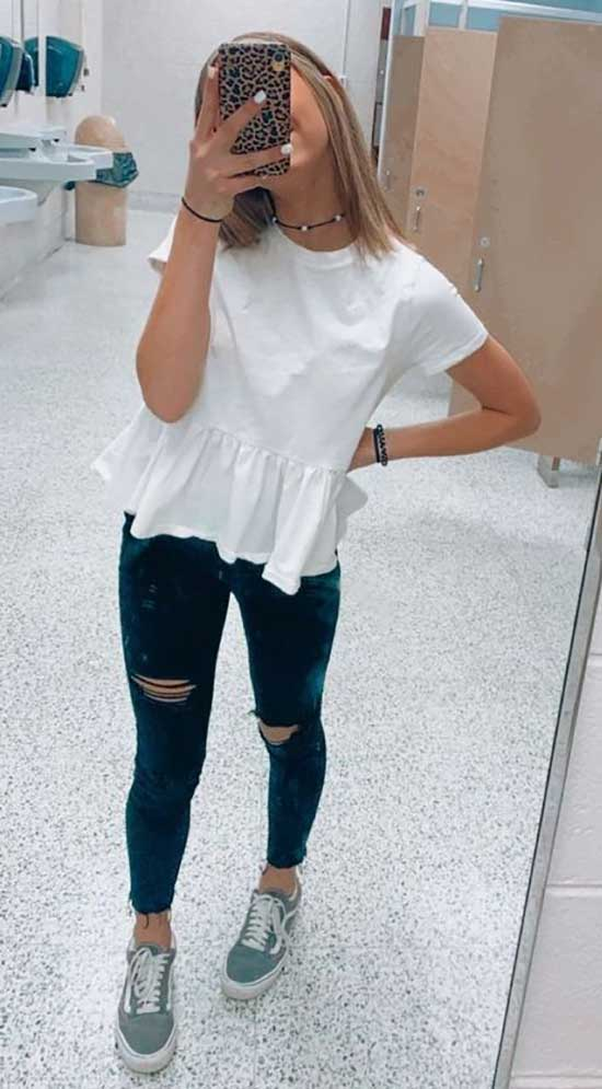 Simple Summer Outfits for School-18